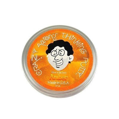 Crazy Aaron Crazy Aaron's Thinking Putty Glow in the Dark Amber Small