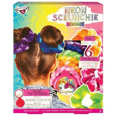 Fashion Angels Neon Tie Dye Scrunchi Design Kit