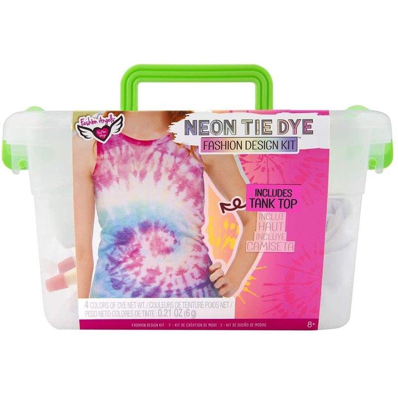 Fashion Angels Neon Tie Dye Tank Top Design Kit