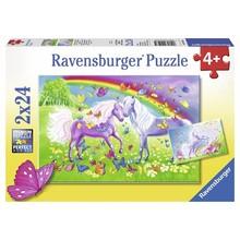 Ravensburger Ravensburger Puzzle 2x24pc Rainbow Horses
