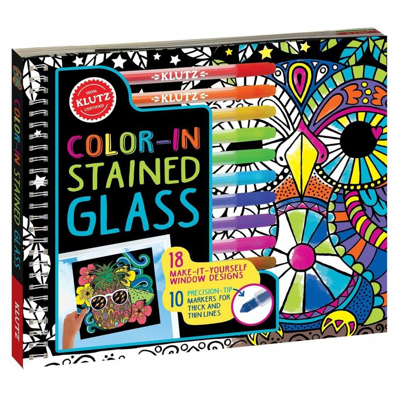 Klutz Klutz Book Color-In Stained Glass