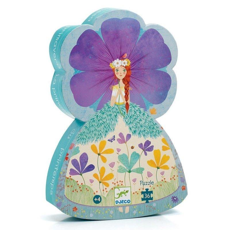 DJeco DJeco Silhouette Puzzle 36pc Princess of Spring