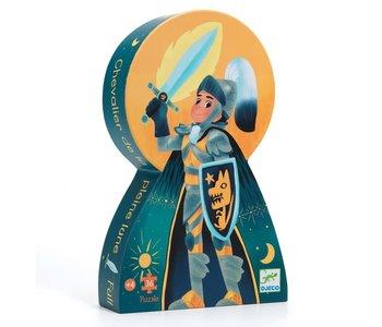 DJeco Silhouette Puzzle 36pc Full Moon Knight