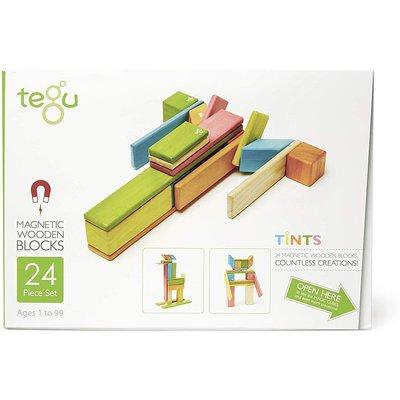 Tegu Tegu Magnetic Wooden Block 24pc Tints