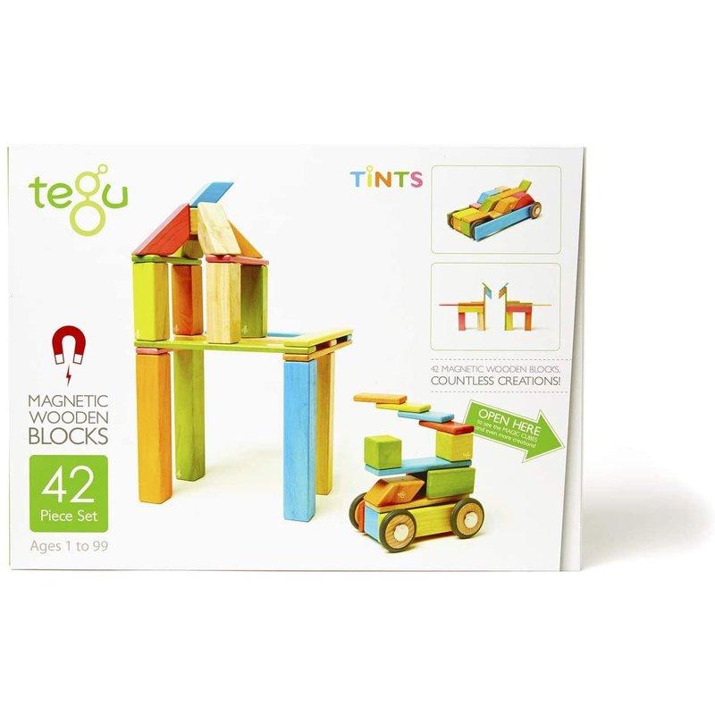Tegu Tegu Magnetic Wooden Block 42PC Tints