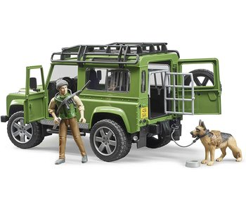 Bruder Land Rover with Hunter and Dog