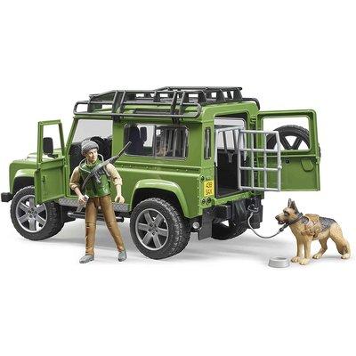 Bruder Bruder Land Rover with Hunter and Dog