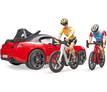 Bruder Roadster with Cyclist & Rider