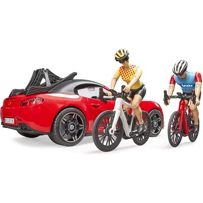 Bruder Bruder Roadster with Cyclist & Rider