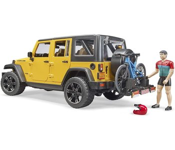Bruder Jeep Wrangler with Cyclist & Rider