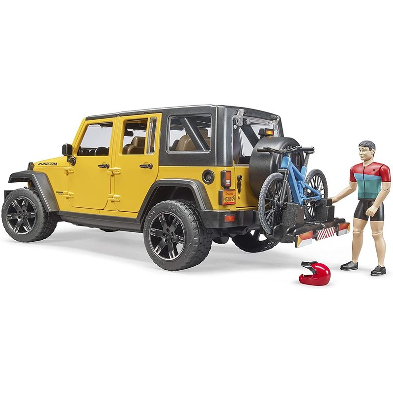 Bruder Bruder Jeep Wrangler with Cyclist & Rider