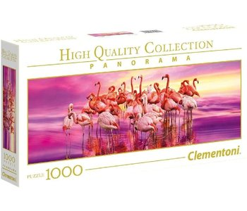 Clementoni Puzzle 1000pc Pano Flamingo Dance