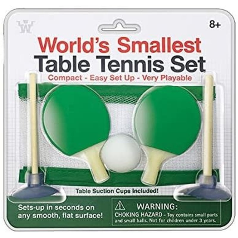 World's Smallest Table Top Tennis