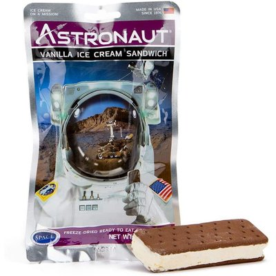 Astronaut Food Ice Cream Vanilla Sandwich