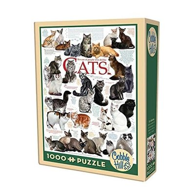 Cobble Hill Puzzles Cobble Hill Puzzle 1000pc Cat Quotes