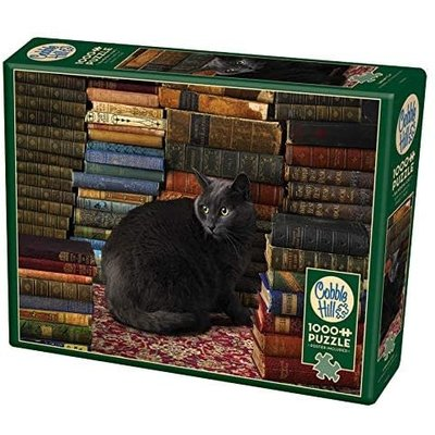 Cobble Hill Puzzles Cobble Hill Puzzle 1000pc Library Cat