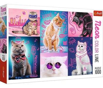 Trefl Puzzle 1000pc Neon Super Cats