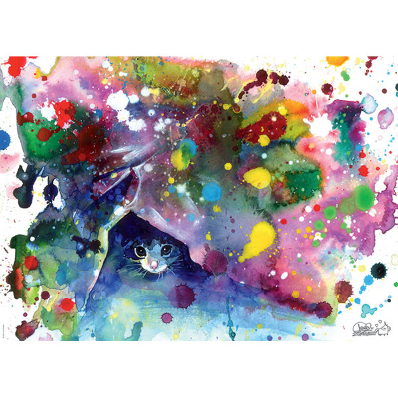Heye Heye Puzzle 1000pc Meow, Free Colours