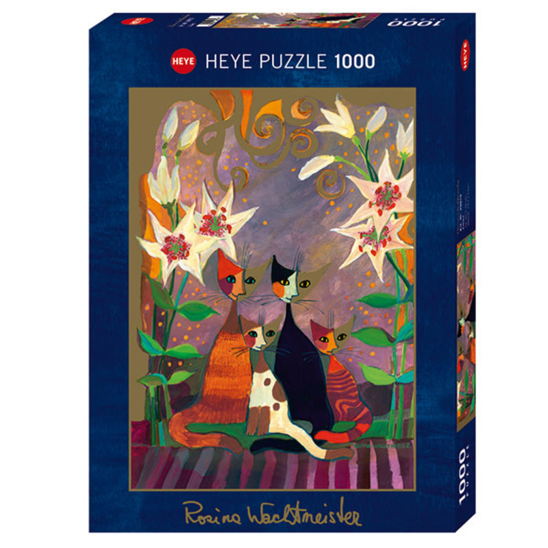 Heye Heye Puzzle 1000pc Lilies & Cats