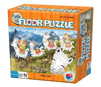 Cobble Hill Floor Puzzle Leaping Llamas