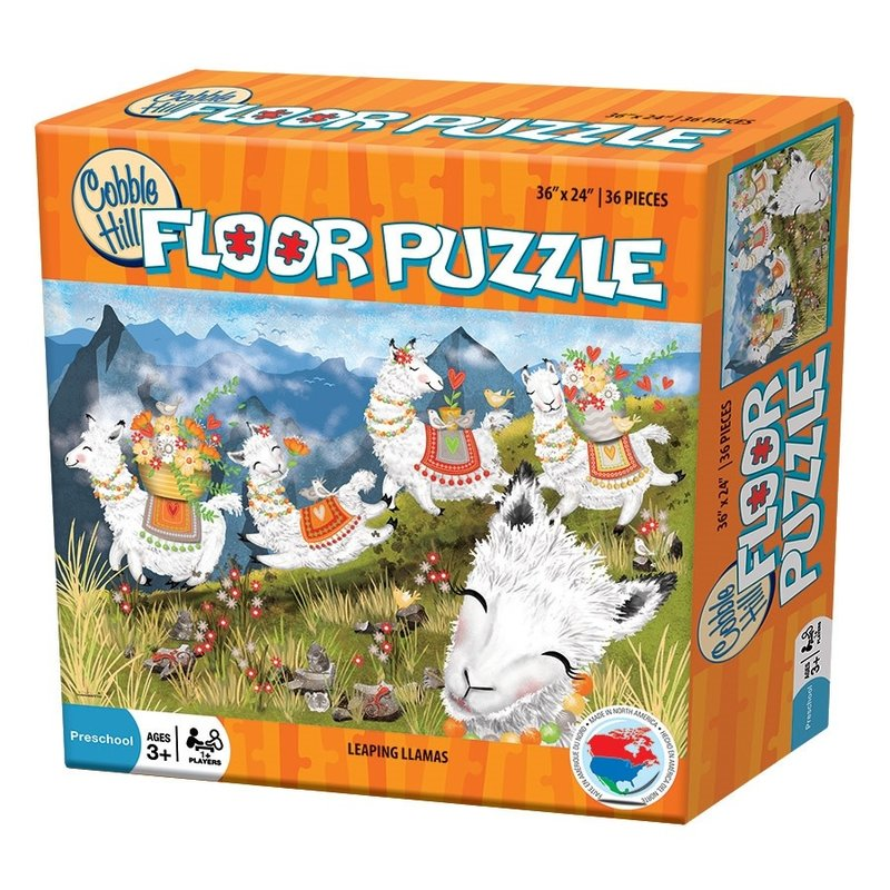 Cobble Hill Puzzles Cobble Hill Floor Puzzle Leaping Llamas