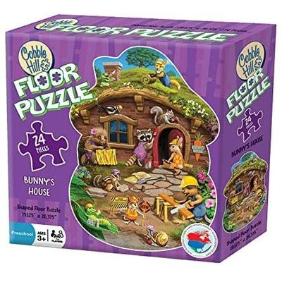 Cobble Hill Puzzles Cobble Hill Floor Puzzle Rabbits House