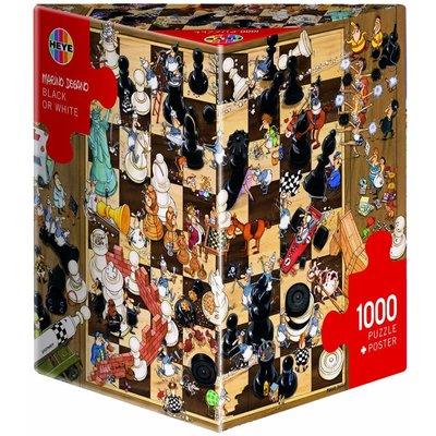 Heye Heye Puzzle 1000pc Black or White, Degano