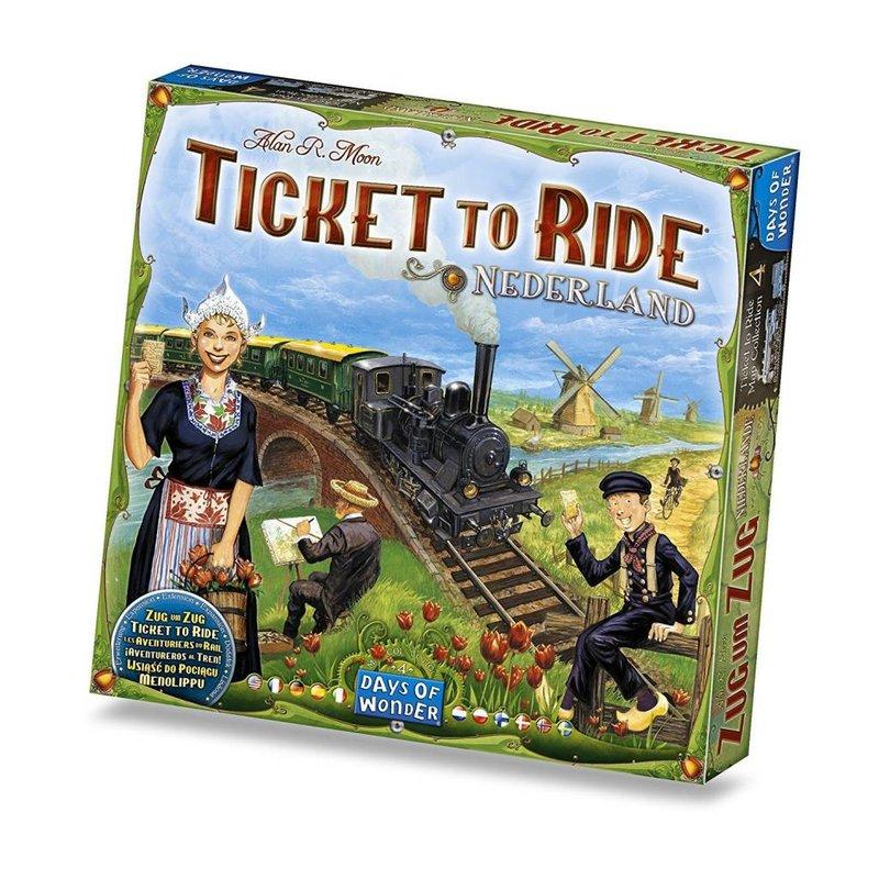 Days of Wonder Ticket to Ride Game Expansion: Nederland