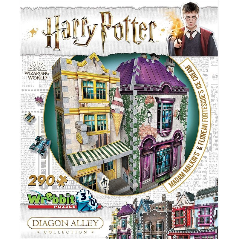 Wrebbit Wrebbit 3D Puzzle Harry Potter Madame Malkins Ice Cream