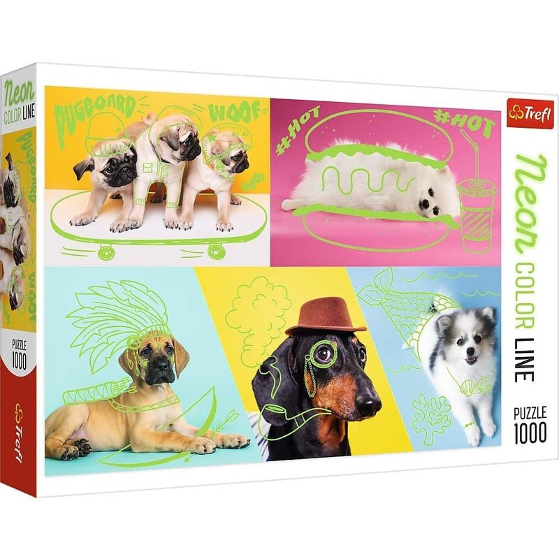 Trefl Trefl Puzzle 1000pc Far Out Dogs