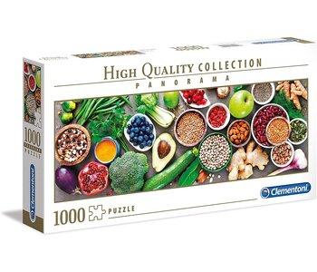 Clementoni Puzzle 1000pc Pano Healthy Veggie