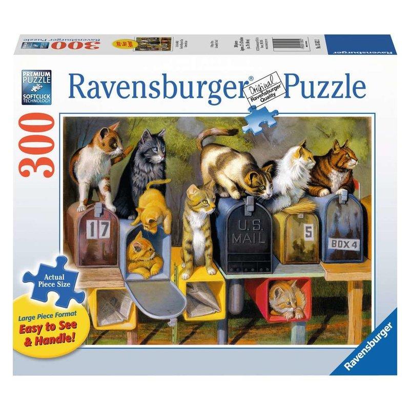 Ravensburger Puzzle 300pc Large Format Cat's Got Mail