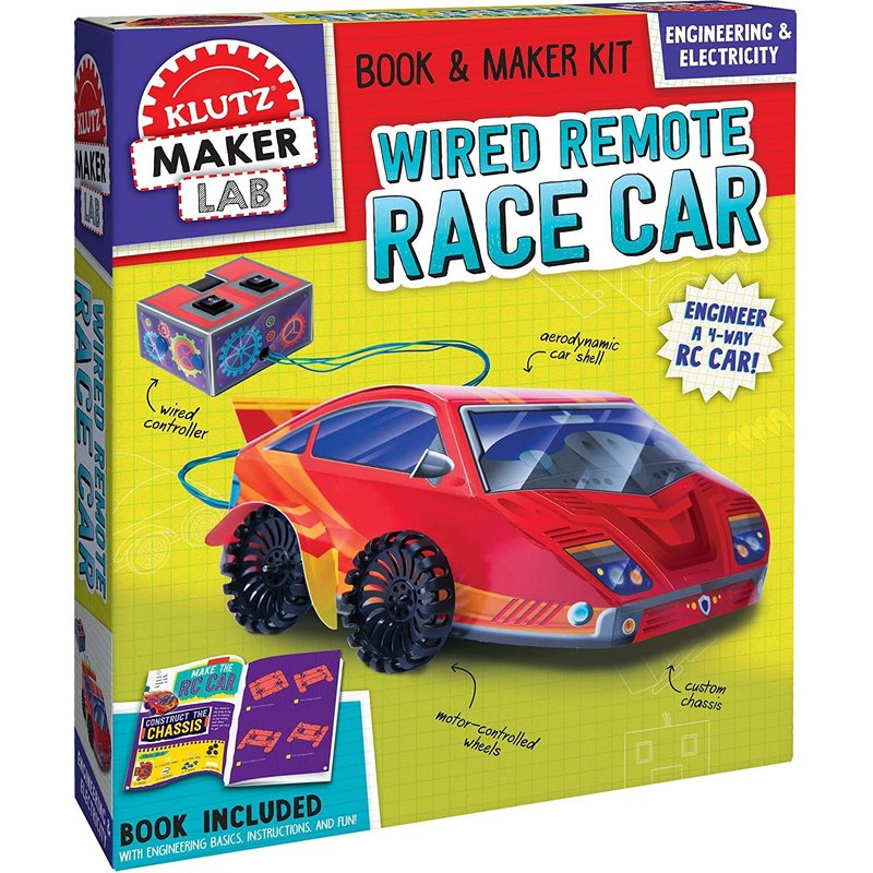 Klutz Klutz Book Wired Remote Race Car