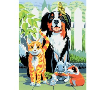 Paint by Number Family Pets