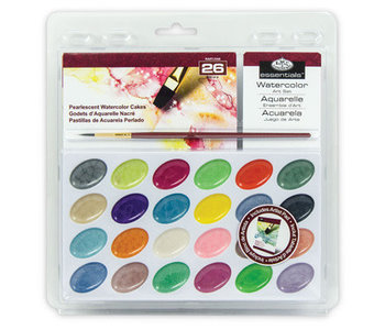 R&L Clamshell Pearlescent Watercolor Cakes