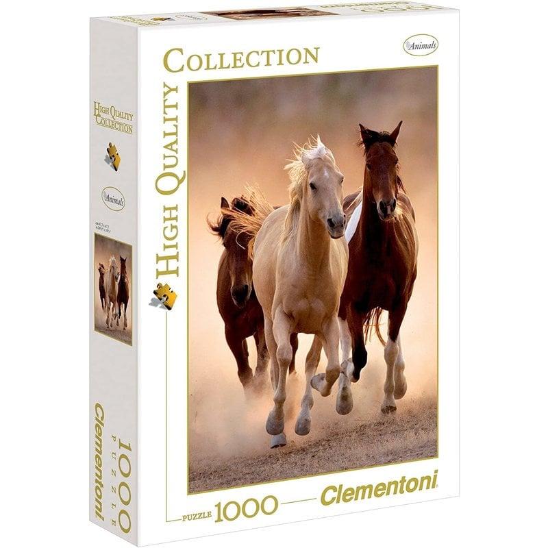 Clementoni Clementoni Puzzle 1000pc Running Horses