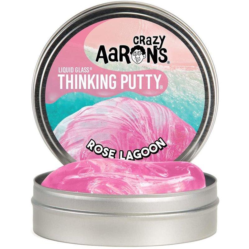 Crazy Aaron Crazy Aaron's Thinking Putty Liquid Glass Rose Lagoon