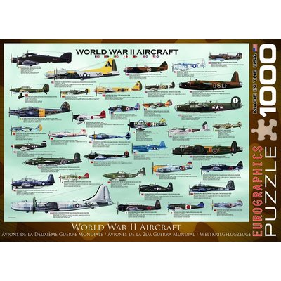 Eurographic Puzzle 1000pc WW2 Aircraft