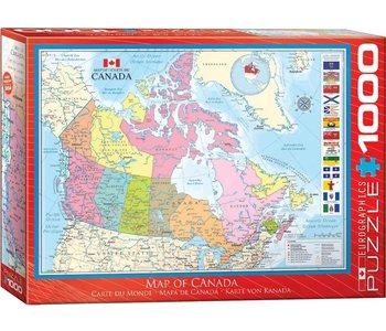 Eurographic Puzzle 1000pc Map of Canada