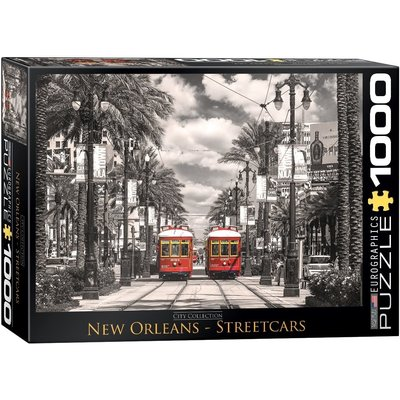 Eurographic Puzzle 1000pc New Orleans Streetcars