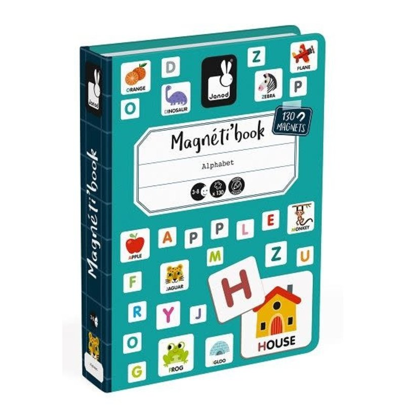 Janod Magnetic Book Letters English