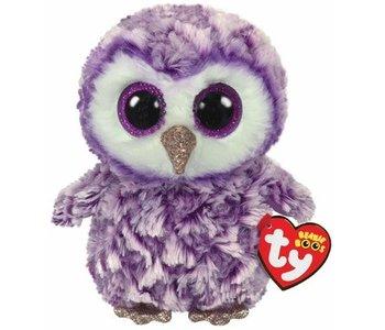 Ty Beanie Boo Regular Moonlight Owl Purple