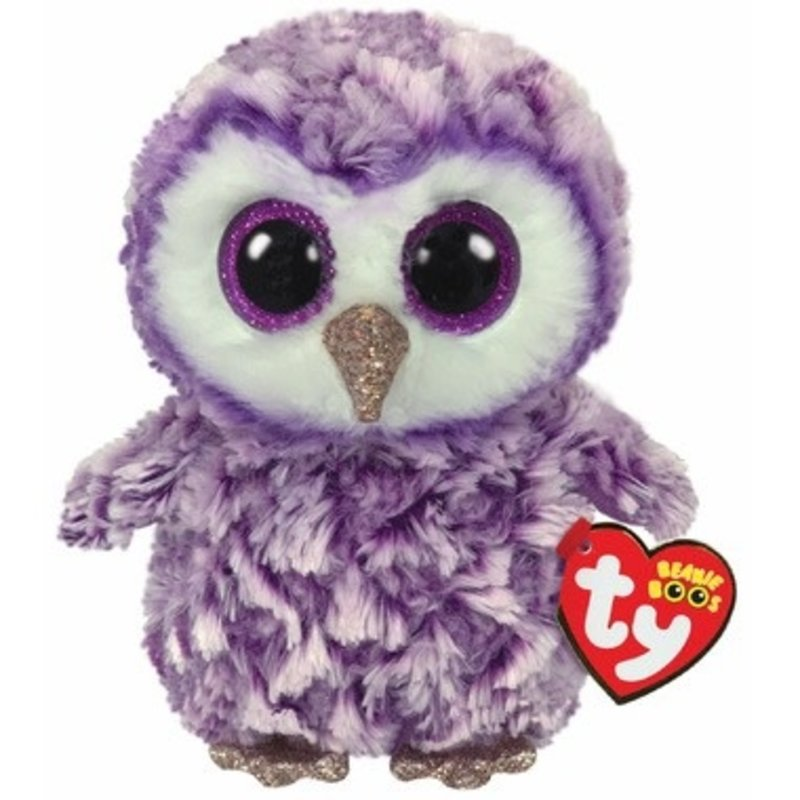 Ty Ty Beanie Boo Regular Moonlight Owl Purple