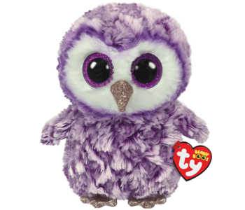 Ty Beanie Boo Medium Moonlight Owl Purple