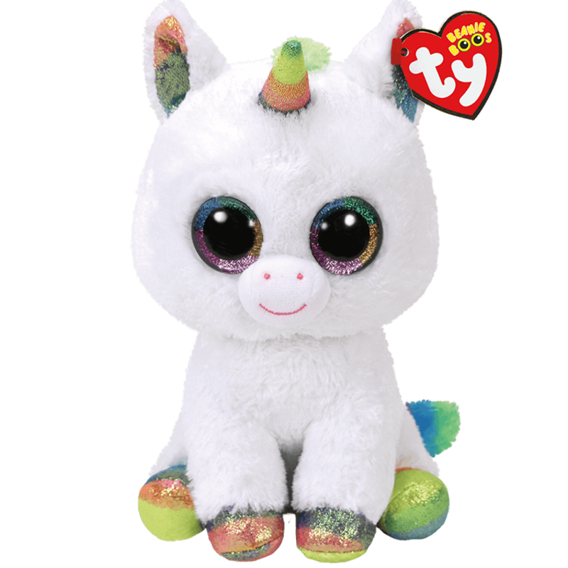 Ty Ty Beanie Boo Medium Pixy White Unicorn