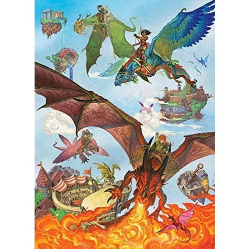 Cobble Hill Puzzles Cobble Hill Family Puzzle 350pc Dragon Flight