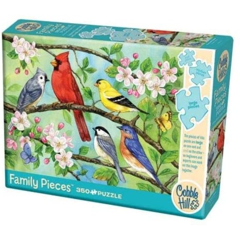 Cobble Hill Family Puzzle 350pc Blooming Bird's