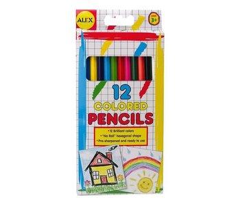Alex Coloured Pencils 12pcs