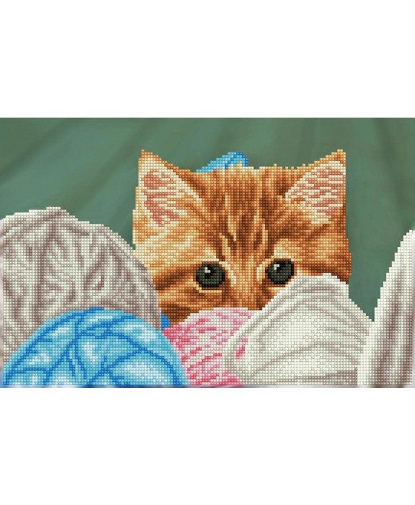 Diamond Dotz Kitty Hiding