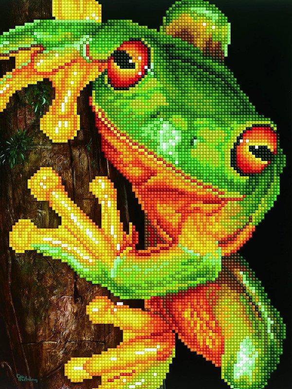 Diamond Dotz Diamond Dotz Green Tree Frog
